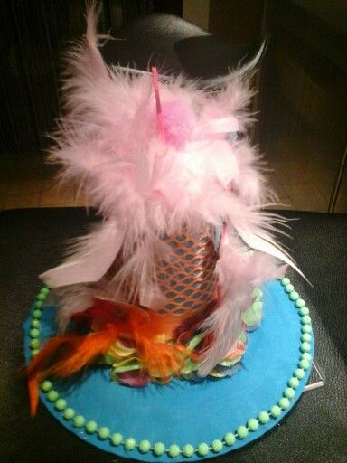 Diy Flamingo Tophat from the side