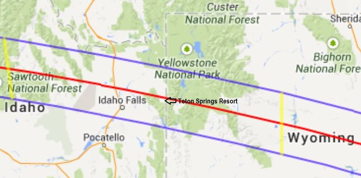 Teton Springs Solar Eclipse 2017 Map | Tropical Sails Corp | Tall ...
