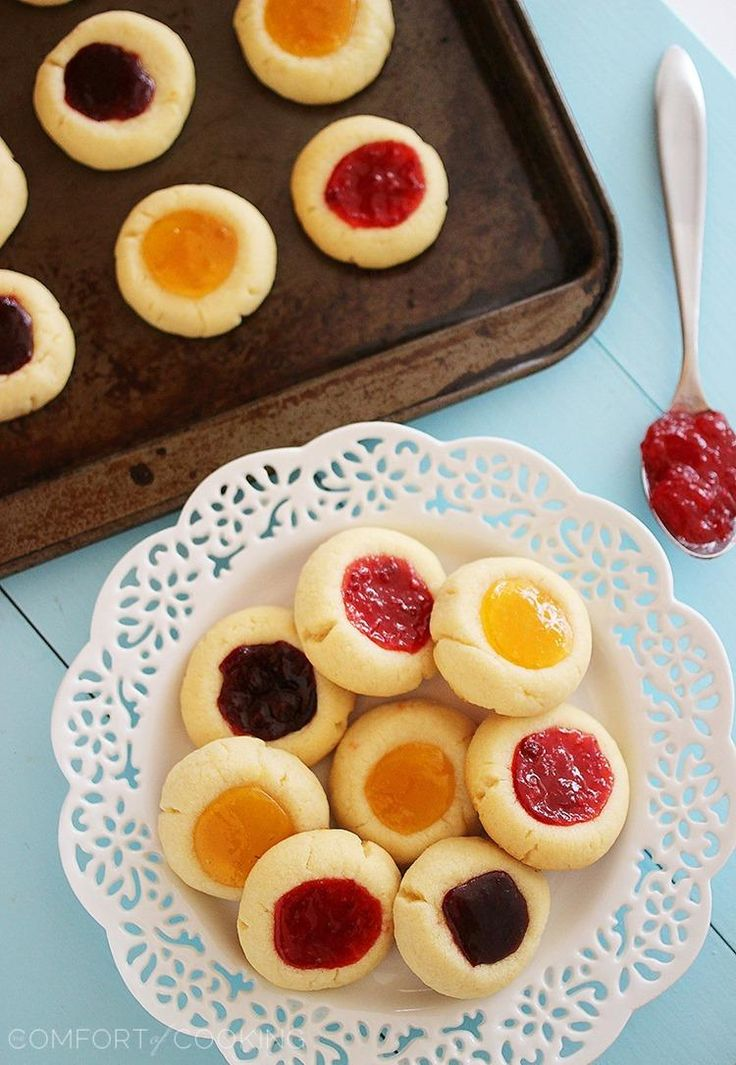 ... | Thumbprint cookies, Rolled sugar cookies and Cherry cheesecakes