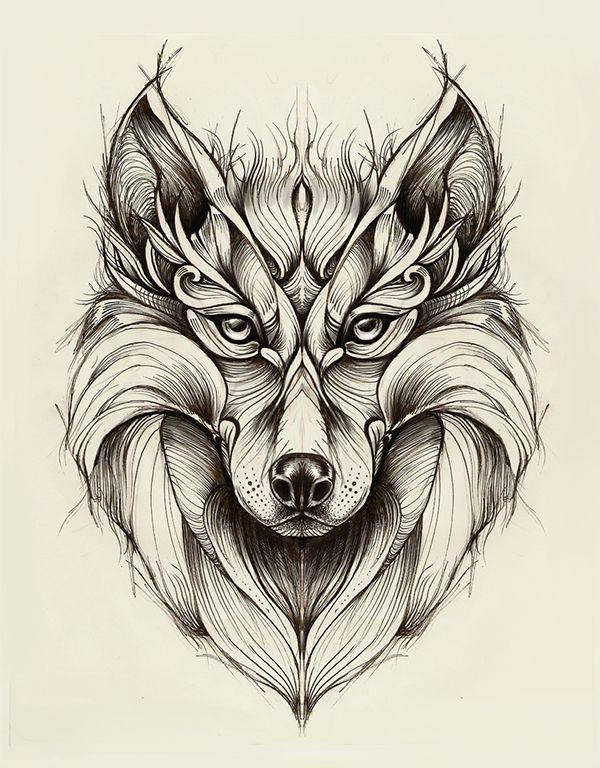 Wolf on Behance by Marta Adán