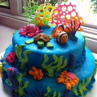 Under the Sea cake Baby Shower