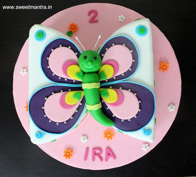 Butterfly shaped customized designer beautiful pretty 3D cake by Sweet Mantra - Customized 3D cakes Designer Wedding/Engagement cakes in Pune - http://cakesdecor.com/cakes/295816-butterfly-shaped-customized-designer-beautiful-pretty-3d-cake
