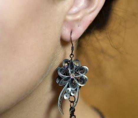 orecchini in quilling