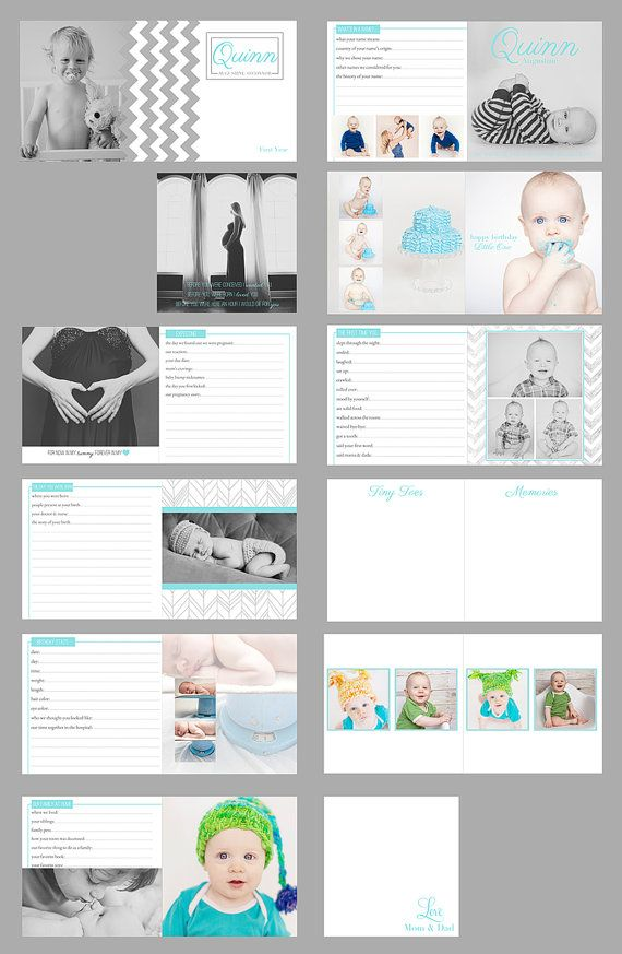 Baby's First Year Album Digital File for by VintageStyleBabyShop