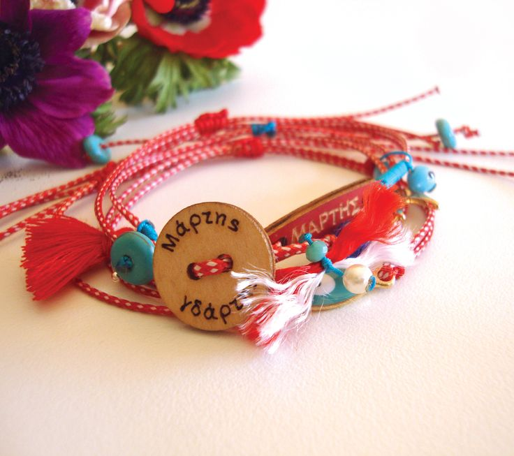 """March bracelets by """"The red button"""""""