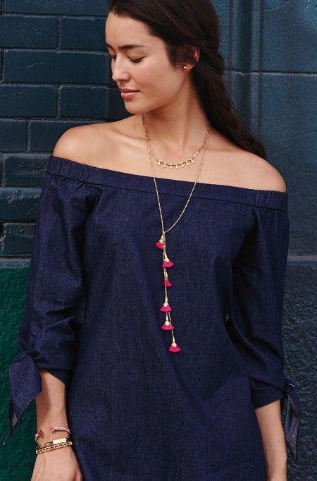 Eden Tassel Lariat Necklace   Stella & Dot