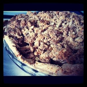 Healthy Apple and Pear Crumble Pie