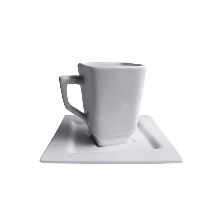 Square Collection 90 Ml Porcelain Espresso Cup U0026 Saucer Set Nice Look