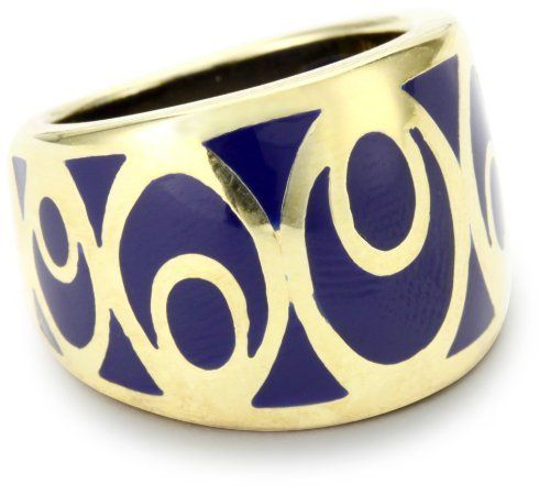 "Andrew Hamilton Crawford ""Bubble"" Vermeil Navy Ring Andrew Hamilton Crawford. $74.99. Ring is 18k gold vermeil, with a comfort fit band. Ring features a high polished mirror finish. Made in Hong Kong. This profile ring is a comfort fit band in turquoise hand poured resin"