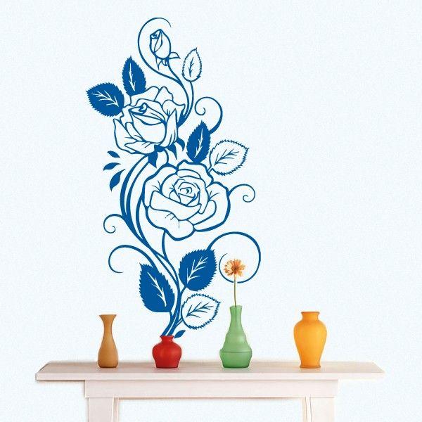 Rosas -vinil autocolante decorativo de parede