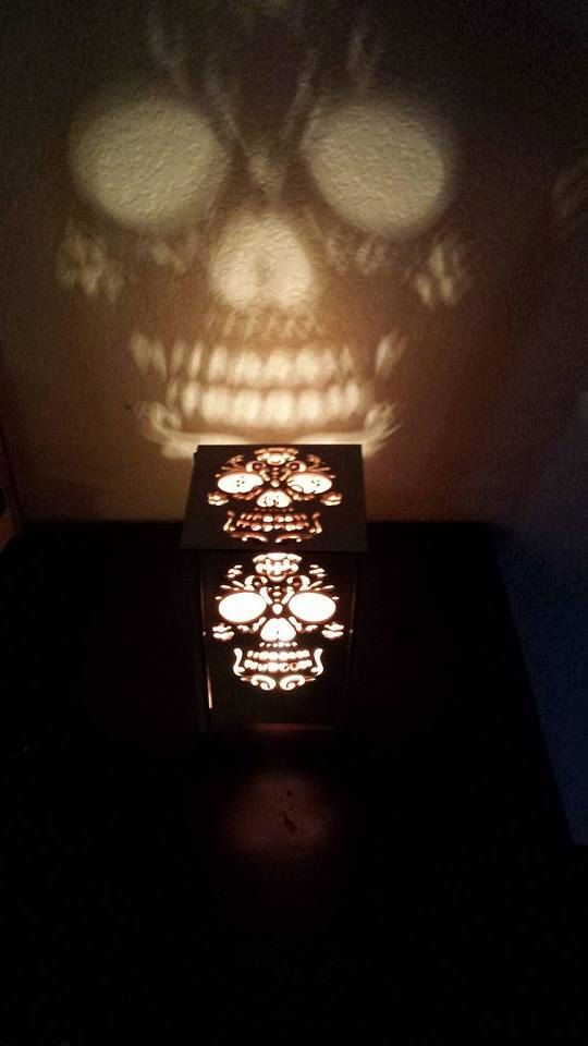 Table lamp - desk light - night light - Day of the dead - sugar skull - Lanterns…