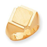 14k Men's Signet Ring RS494