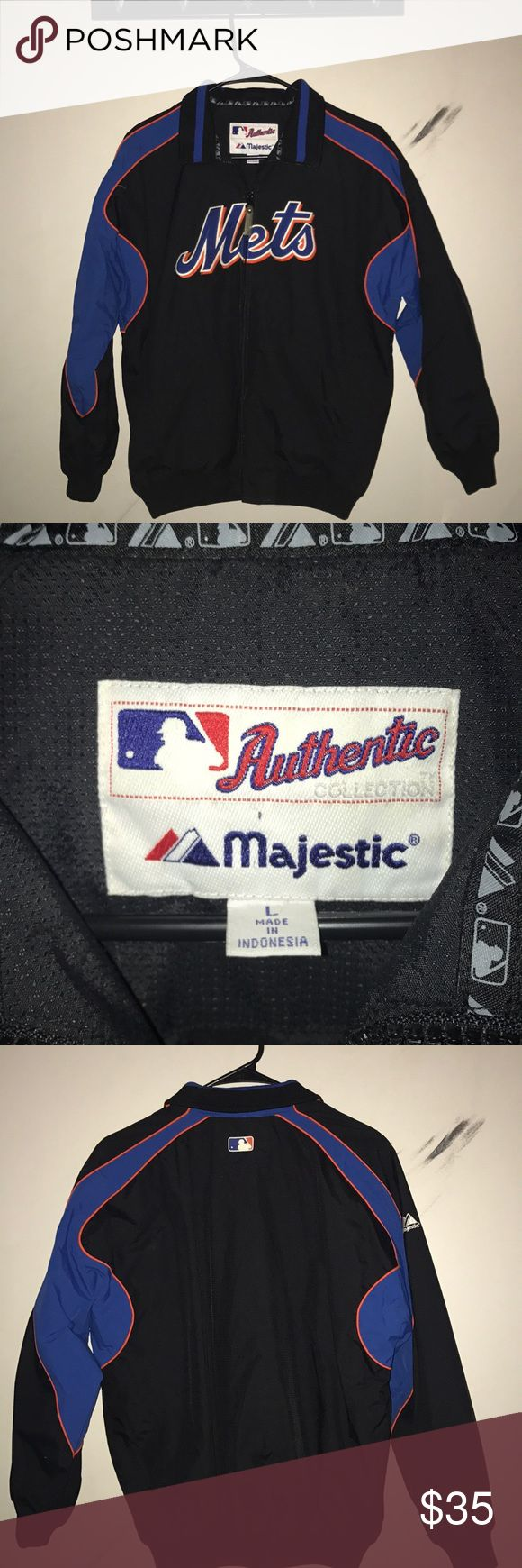 MLB Official Mets Zip-up Windbreaker Perfect condition. It's a great jacket for a good price. Selling because it doesn't fit, go Mets! Majestic Jackets & Coats Windbreakers