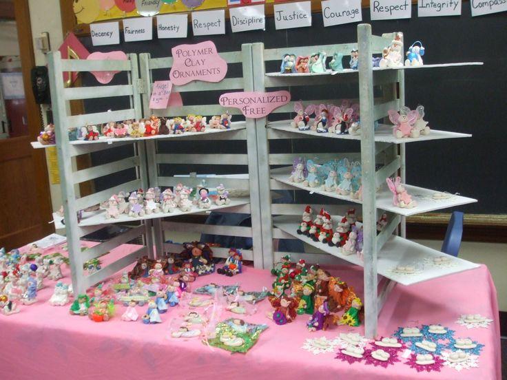 Shelves for a craft fair