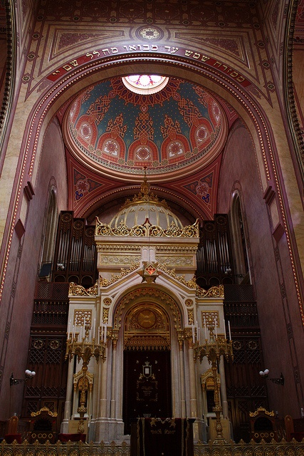 The Dohány Street Synagogue in Budapest.