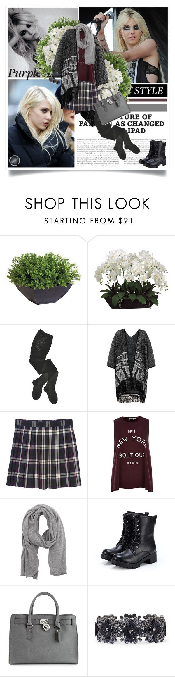 """Taylor Momsen"" by kaya95 ❤ liked on Polyvore featuring Ethan Allen, Allstate Floral, HYD, Monki, River Island, 360 Sweater, Exull and MICHAEL Michael Kors"