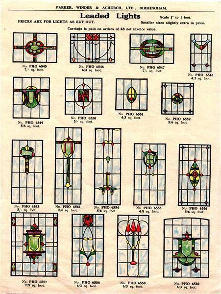 1930s stained glass catalogue