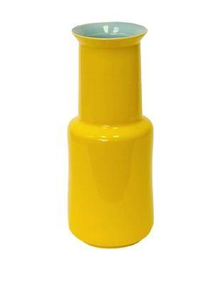 50% OFF Middle Kingdom Porcelain Bamboo Vase, Turquoise/Yellow