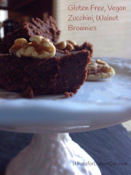 Vegan Gluten Free Zucchini Brownies, Mexican Style/MyBajaKitchen.com, #vegan brownies, #gluten free desserts, #healthy desserts