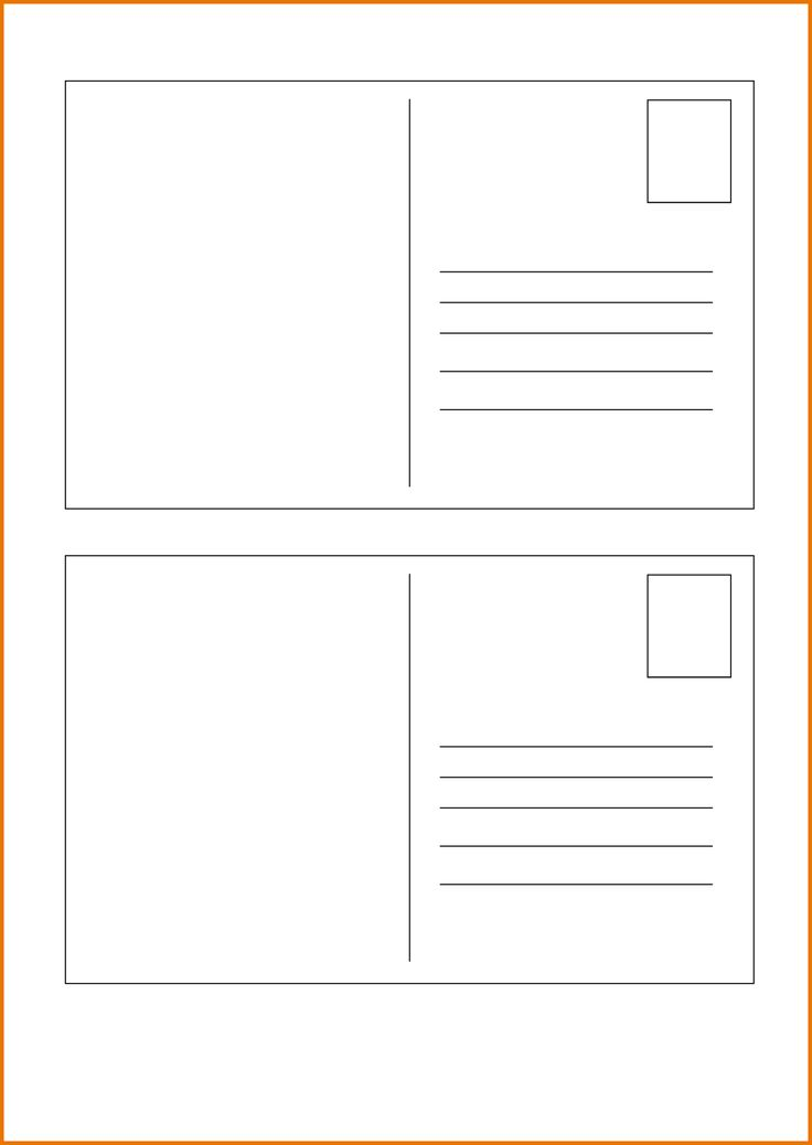 Postcard Template Free Printable 15 Best Postcard Templates Images On Pinterest  Postcard Template .