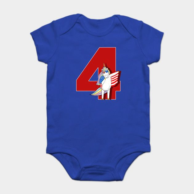 Happy 4th Of July Unicorn Ma Memorial Day Funny Onesie by memwear