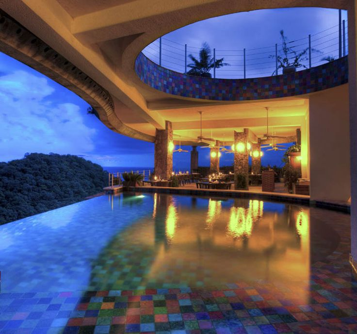 Jade mountain,St. Lucia.Every room has an infinity room.