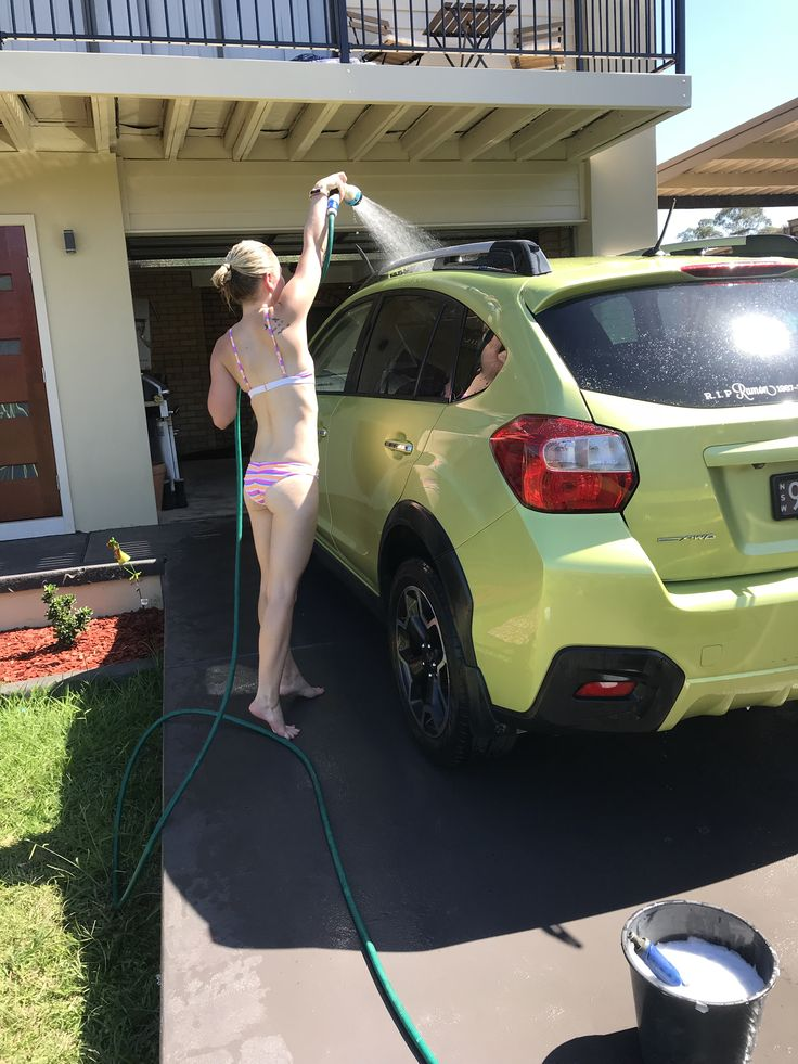 Cause how else do you wash a car? 🤔 The Subaru XV was way over due for a wash.