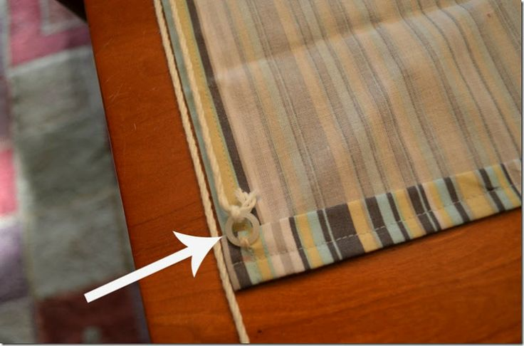 I've always wondered how to make these pull-up roman shade curtains.