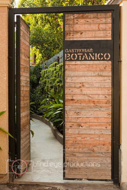 my favorite restaurant entrance anywhere--phnom penh gastrobar botanico