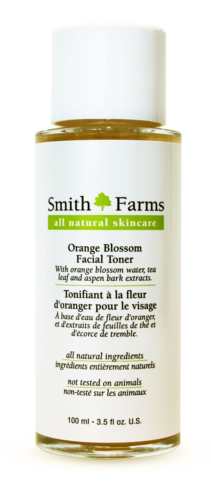 Orange Blossom Facial Toner Refreshing and lightly cleansing, this toner balances the skin without over drying it. Orange blossom water and witch hazel freshen and tone the skin, while aloe vera soothes it. Aspen bark extract helps calm inflammation while extracts of gingko biloba leaf, olive leaf, green, white and rooibos tea leaf offer powerful antioxidant action to heal and protect the skin.