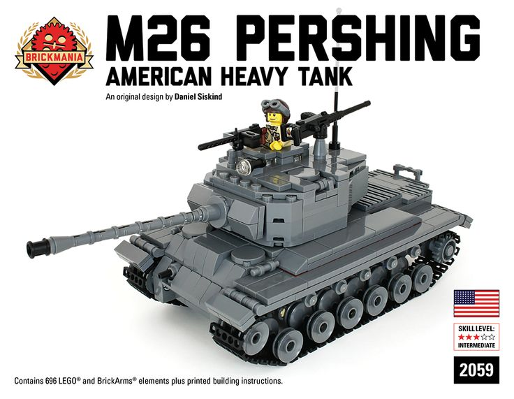 custom lego tank instructions