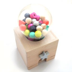 gachagacha by kiko+ wooden gum ball machine http://bcbasics.com/?pid=41506029