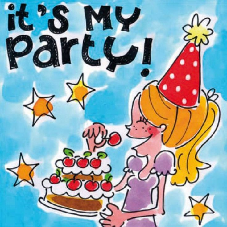 Blond Amsterdam Card It is my party! BL164 - https://www.simplydutch.com/kiosk/birthday-cards/blond-amsterdam/4791/card-it-is-my-party-bl164/