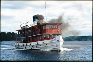 Steam cruisers in Savonlinna