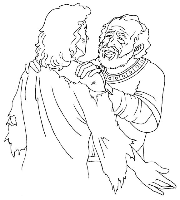The Prodigal Son Returns Coloring Page