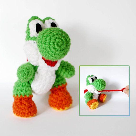 Yoshi crochet amigurumi plush doll inspired in yoshi 39 s for Yoshi plush template