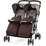Peg Perego Aria Twin Double Twin Pram chocolat brown - Collection 2015