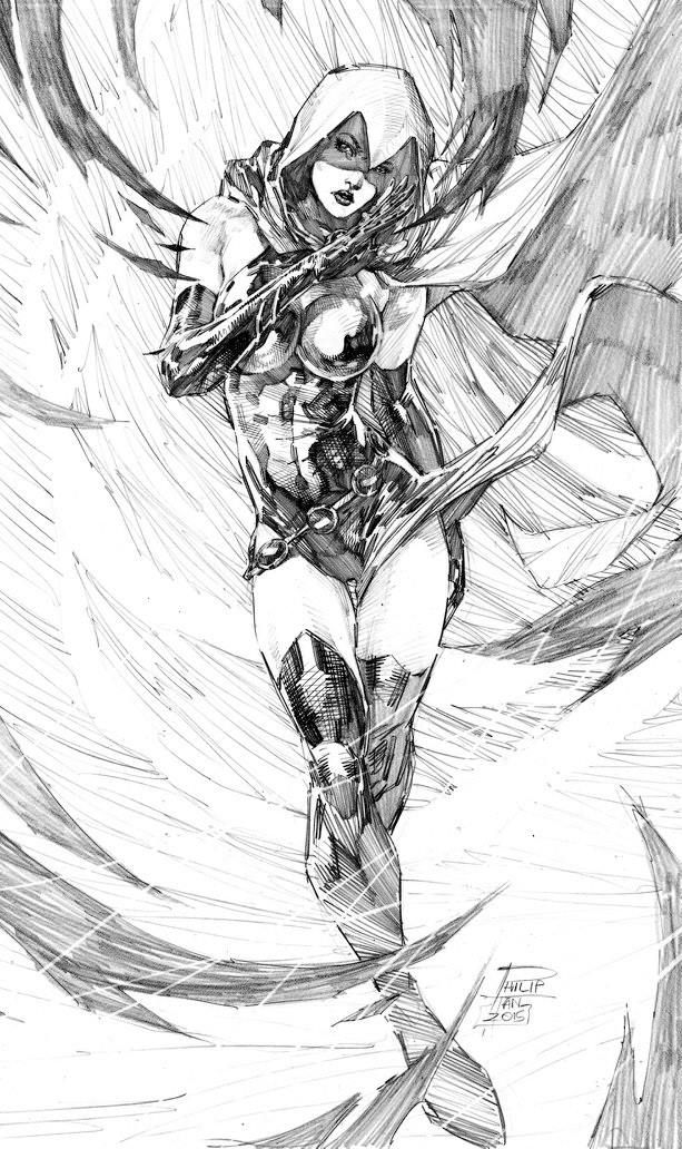 "league-of-extraordinarycomics: ""Raven by Philip Tan """