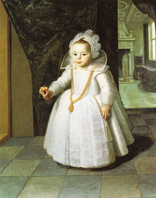 Paulus Moreelse, portrait of a little girl, 1623 - National Gallery of Ireland, Dublin