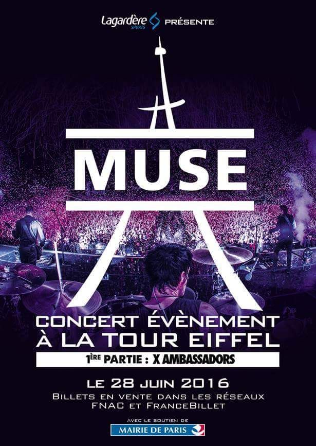 Muse concert tour eiffel paris juin 2016