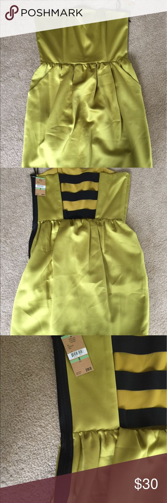 RACHEL ROY  DRESS PRICE REDUCTION 💃💃💃💃 NWT RACHEL ROY WOMENS DRESS SHORT STRAPLESS  IN THE MOOD PISTACHIO STRAP BACK in size 8. RACHEL Rachel Roy Dresses Strapless