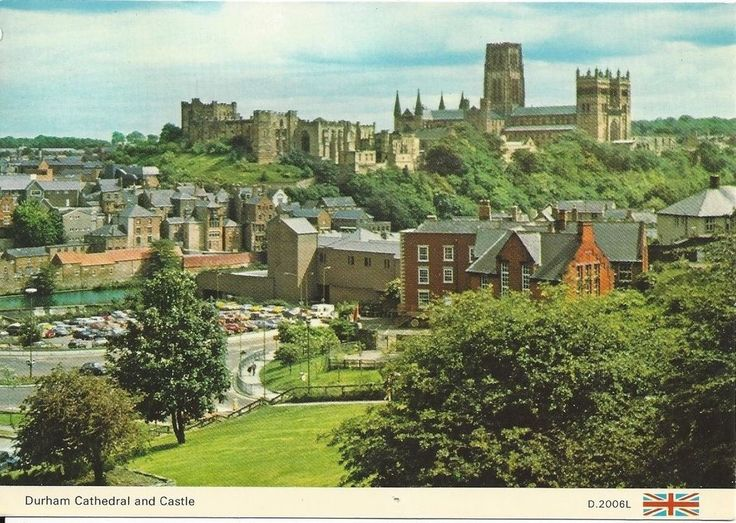 """Vintage collectible 4"""" x 6"""" POSTCARD Durham Cathedral & Castle England UK posted"""