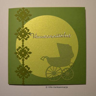 Hand made card - concrats for the baby  Käsintehty kortti - vauvaonnittelut