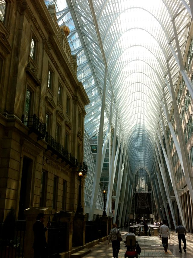 The old and the new working together beautifully in Toronto. Things to do in Toronto with kids