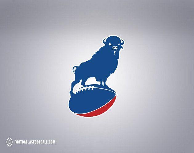 Awesomeness. Buffalo Bills logo from Football as Football. American Football teams transposed as European Football badges.