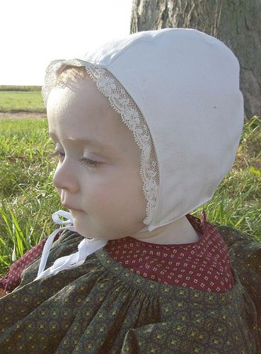 19th (and possibly earlier) 3-piece Baby Cap pattern  shared by Mrs. G. and Sarah of Romantic History Clothing