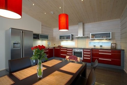 Idee Couleur Cuisine Moderne : 24 best images about Cuisine rouge on Pinterest  Deco