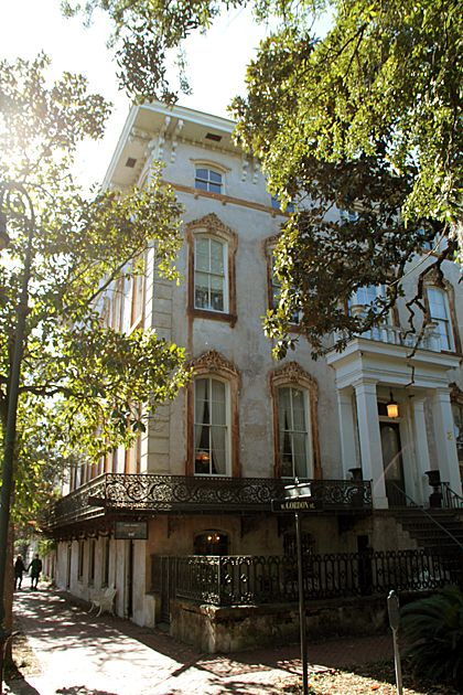 The Noble Hardee house, The location of Alex Raskin Antiques. 441 Bull Street, Savannah, GA 31401.  #Savannah #NoBoysAllowed