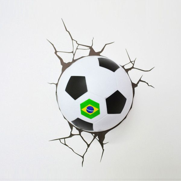 Contemporary Simple Fashion LED 3D World Cup Brazil Football Wall ... ($50) ❤ liked on Polyvore featuring home, home decor, array0x16b3ba48, world cup, contemporary home accessories and contemporary home decor