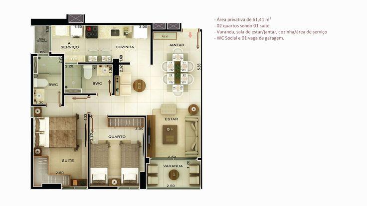 TAMBAÚZINHO / JOÃO PESSOA – PB EM CONSTRUÇÃO Apartamentos com 2 & 3 Quartos (1 Suíte) RI: 6.92.489 Cartório Eunápio Torres Previsão de Entrega: Dezembro/2018 Apartamento com 64,35 m², 0…
